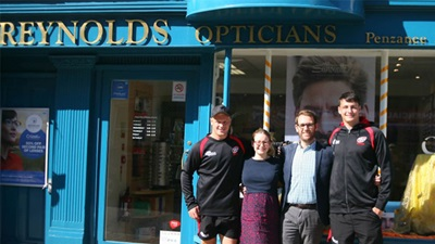 Reynolds Opticians rugby sponsors