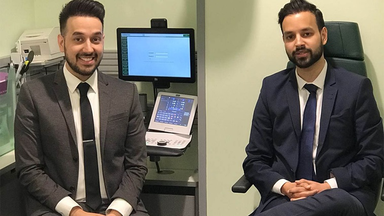 Optometrist duo Ahmed and Hussnan Ejaz