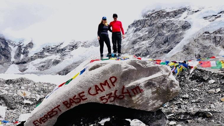 James Kidner at Everest base camp