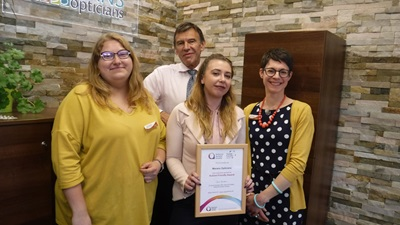 Morans Opticians with Autism award
