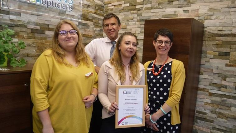 Morans Opticians with Autism award