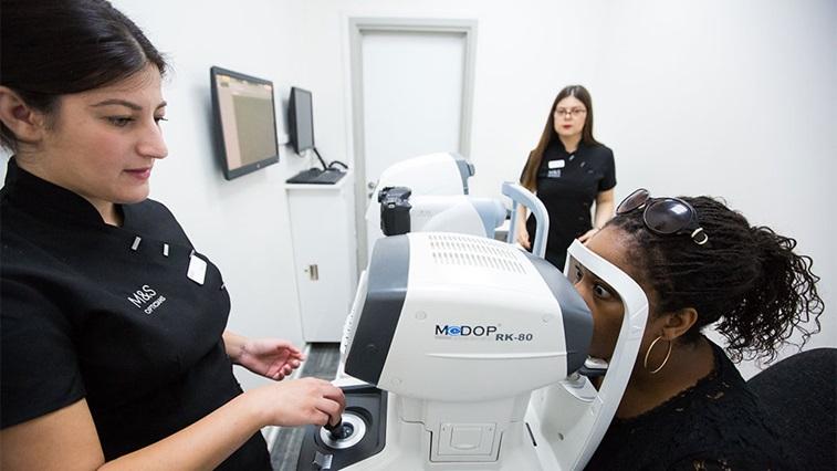M&S Opticians sight test