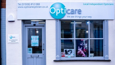 Opticians shop front