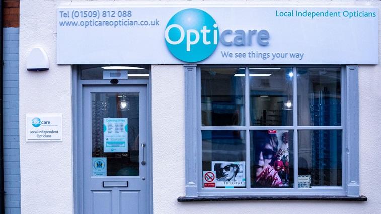 Opticians shop front