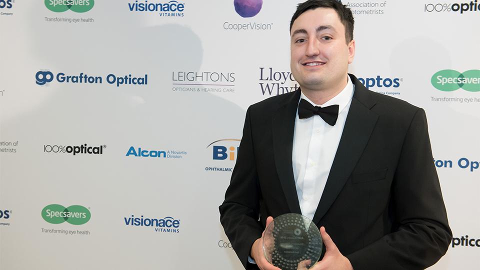 AOP Awards winner dispensing