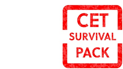 CET survival pack logo