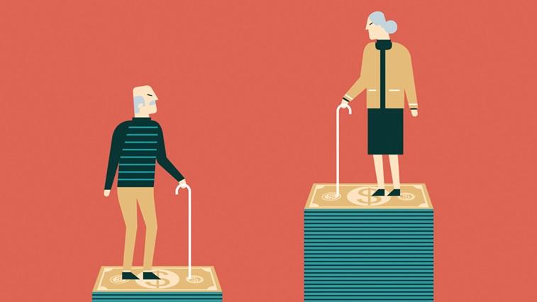 Elderly people illustration