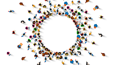 employees in a circle