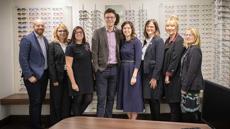 Shrewsbury Opticians team