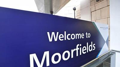 Moorfields Eye Hospital sign