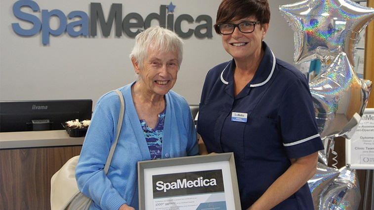 SpaMedica welcomes 1000th patient at Sheffield facility