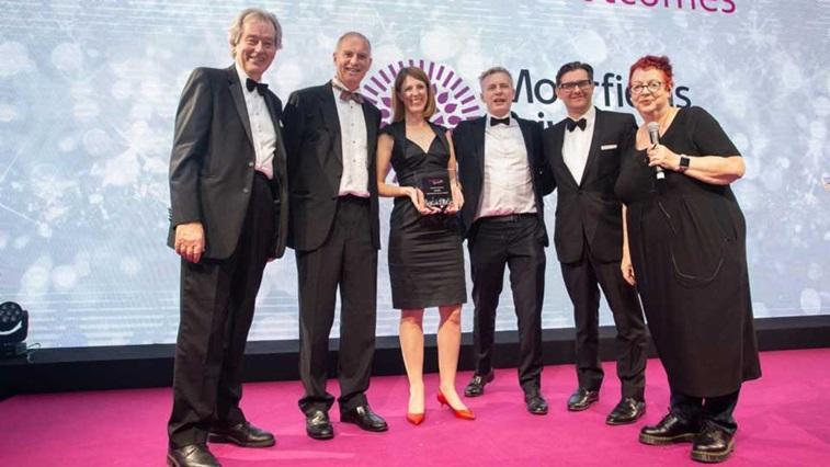 Moorfields receiving LaingBuisson award