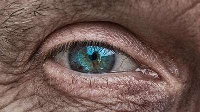 Old mans eye