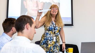 Jo Underwood teaching