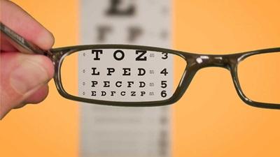 Testchart and glasses