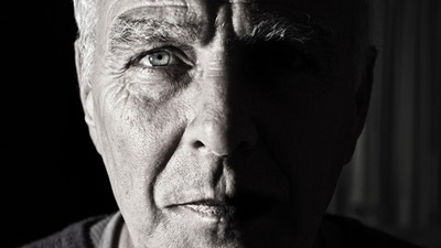 Elderly man close up