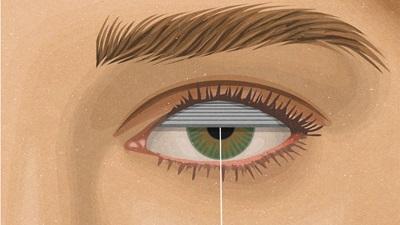 Eye shutter illustration