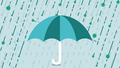 Green Blue Umbrella