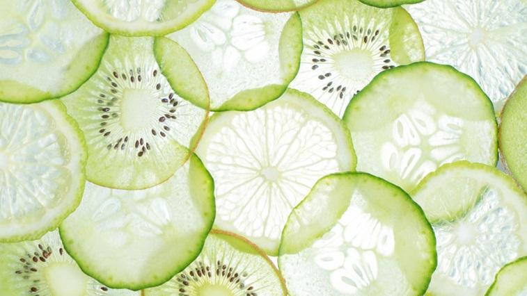 sliced green fruits