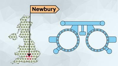 UK map Newbury