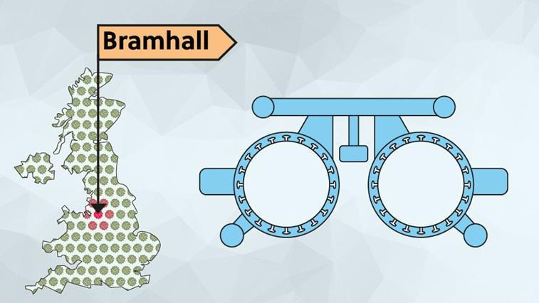 UK map - Bramhall
