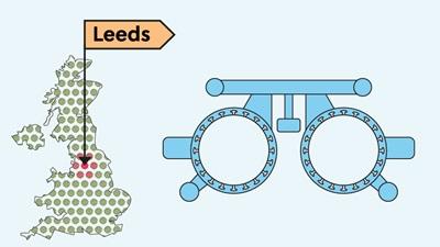 Leeds UK map