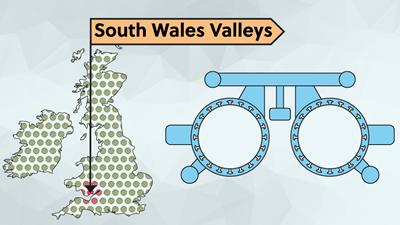 UK map wales