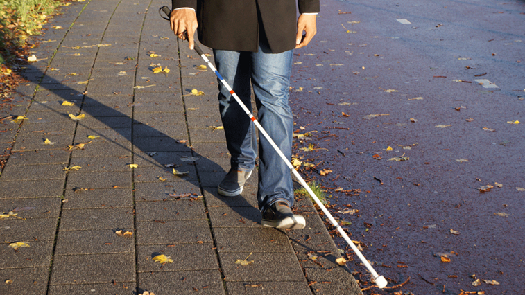 visually impaired person