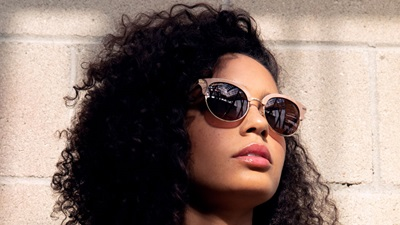 Model wearing sunglasses