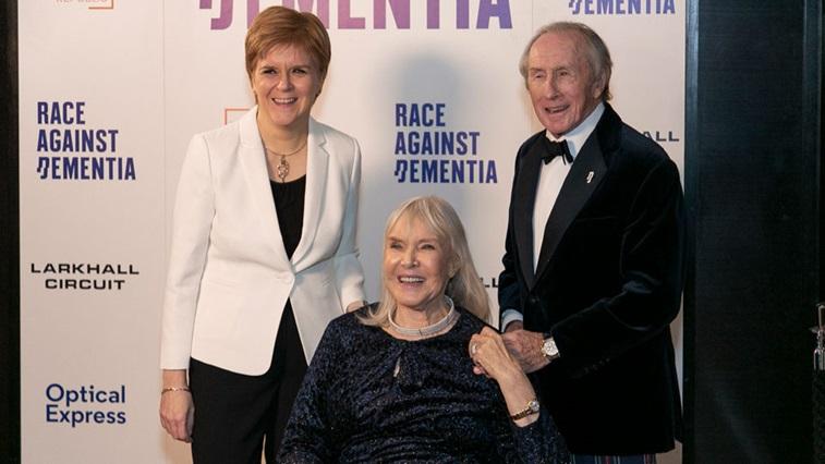 Nicola Sturgeon Lady Helen and Sir Jackie Stewart