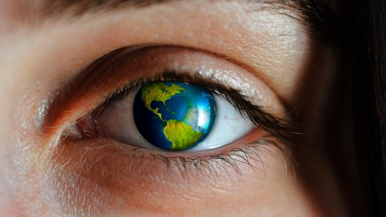 eye and the planet
