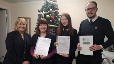 Optical assistant course delegates in Scotland