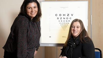 Professor Fiona Henriquez and Yvonne Cunningham
