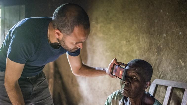 Dr Bastawrous with patient