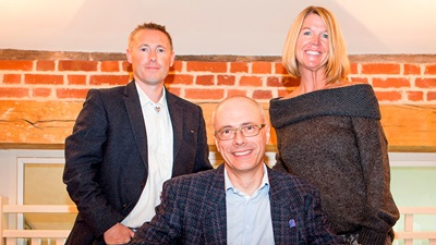 Evolutio CEO Peter Price Taylor, Eyeplan managing director Simon Mills, and VSP vice president Terri Wilson