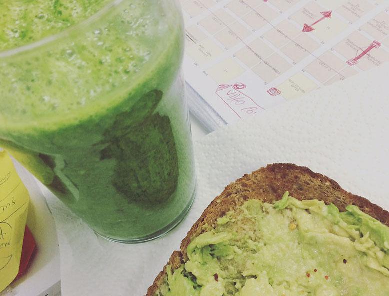 A very green breakfast