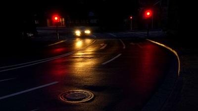 Car on a dark road