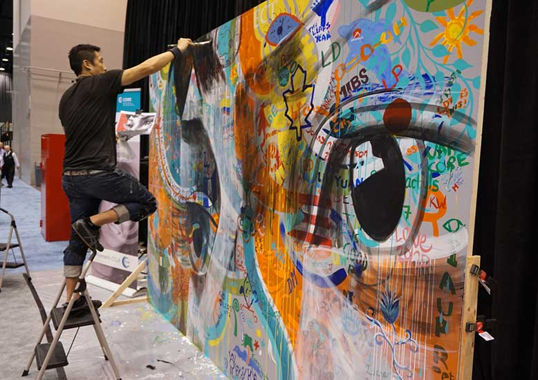 Core Mural being painted