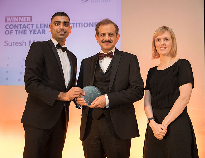 Contact Lens Practitioner of the year, Suresh Patel