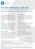 The risks of delaying a sight test key fact sheet cover