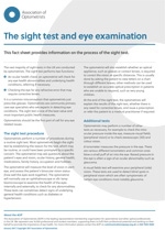 The sight test and eye examination key fact sheet cover