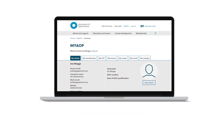 Site downtime notice news story - MyAOP screen