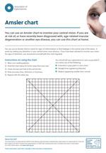 Amsler chart leaflet