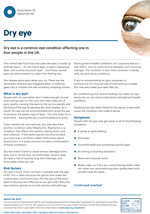 Dry eye leaflet cover