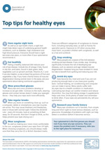 Top tips for healthy eyes leaflet