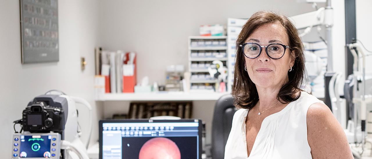 AOP optometrist member Gillian