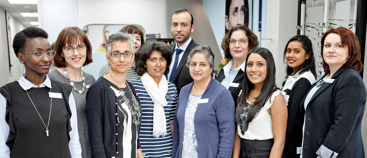 Group of optometrist AOP members