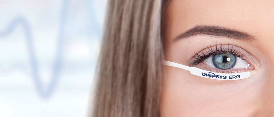 Lady with Diopsys tab under her eye