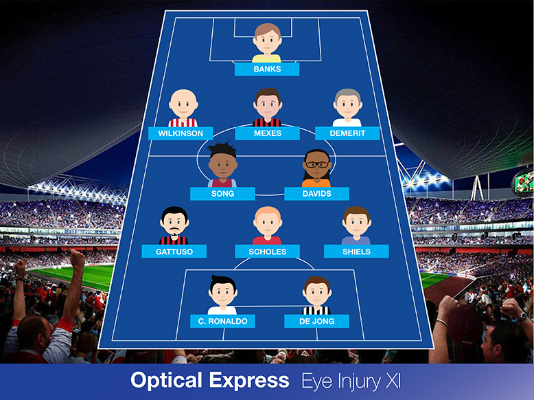 The Optical Express Eye Injury XI team lineup